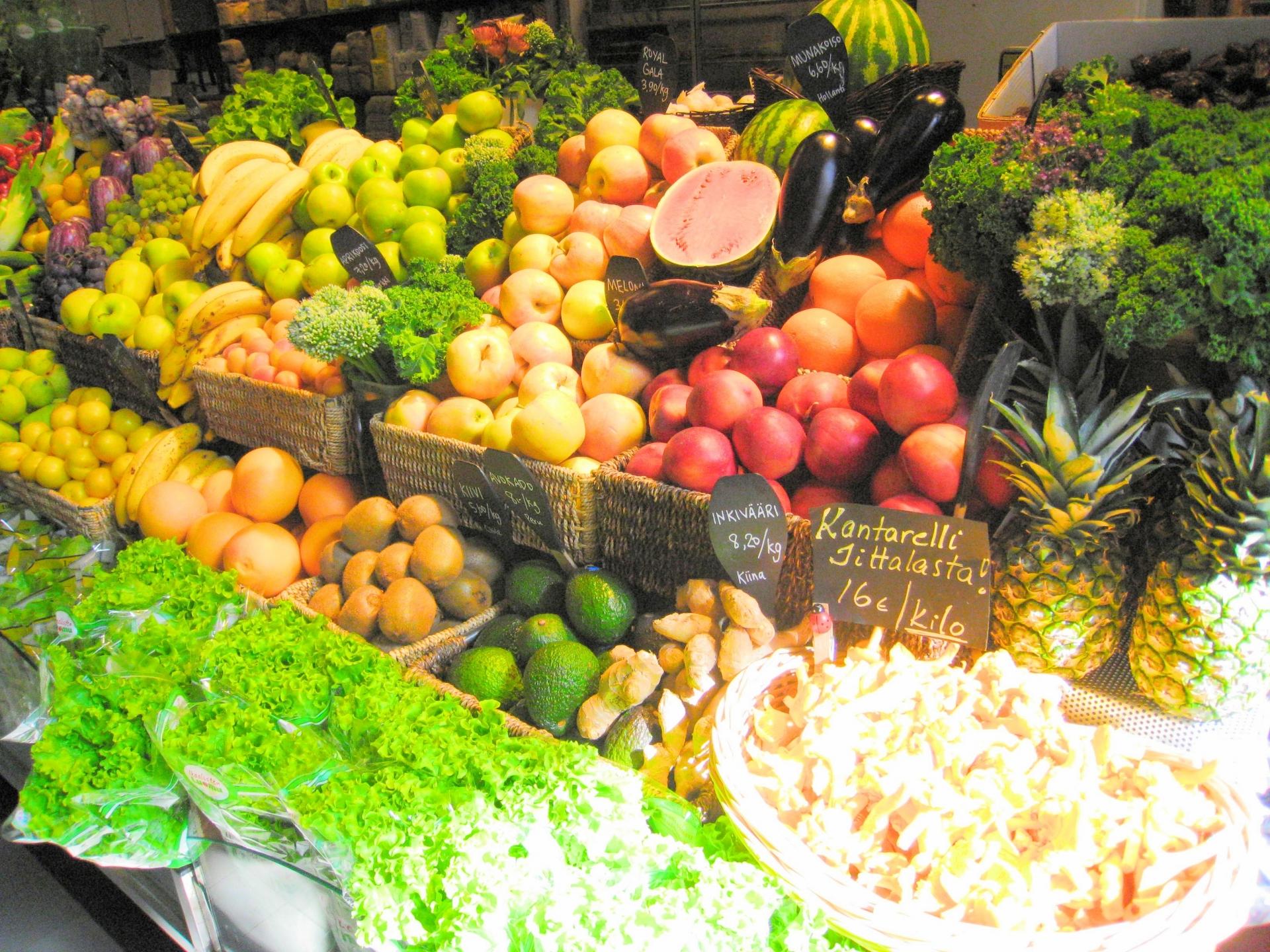豊富な種類の果物