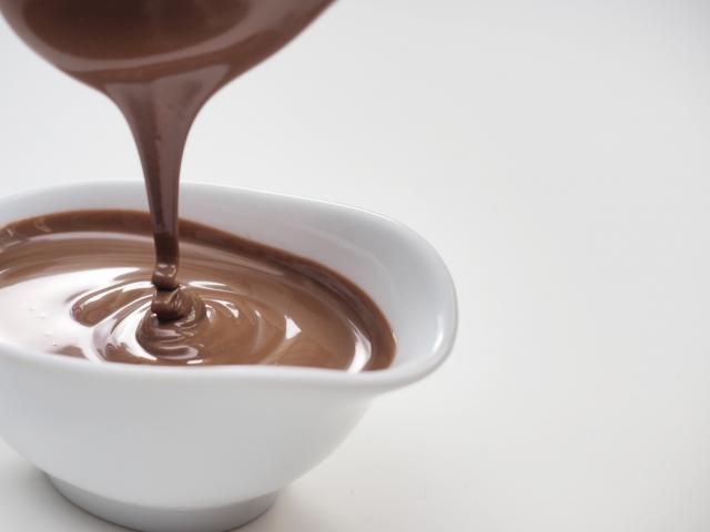 溶けているチョコレート